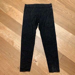 Victoria's Secret black snakeskin print leggings